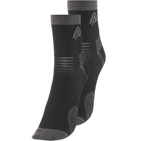 Aclima Running Calze confezione da 2, nero/grigio
